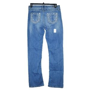 Wrangler Rock 47 Womens 31x34 Bling Western Jeans